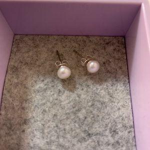 2/15 Pearl colored earrings